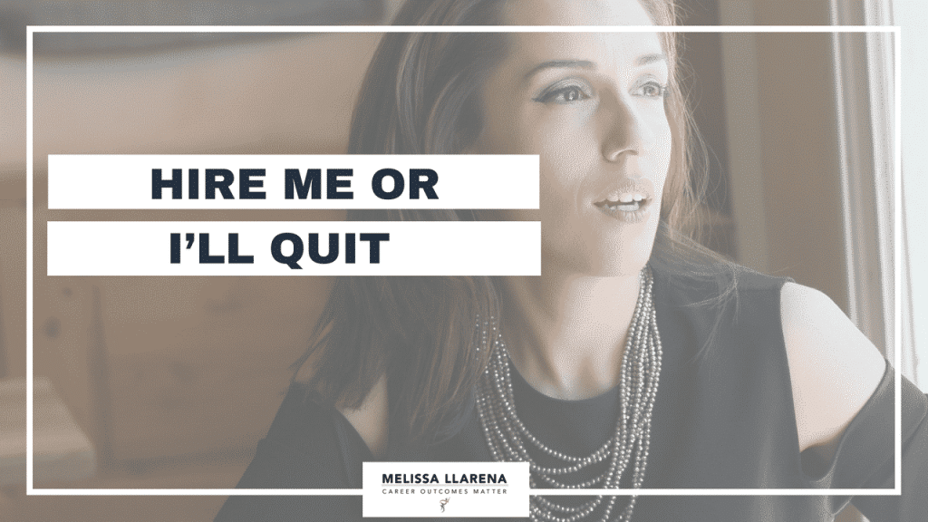 Youtube Melissa LlarenHire me or I'll quit [Facebook LIVE Episode #25- Round One Interview wHR]